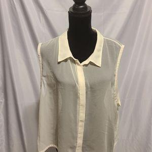 Chiffon sleeveless blouse